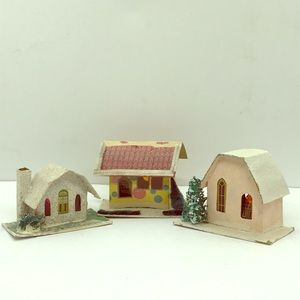 3/$20 SALE Vintage Christmas Village Houses, Japan